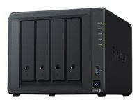 Synology Disk Station DS918+ - NAS-server - 4 fack - SATA 6Gb/s / eSATA - RAID 0, 1, 5, 6, 10, JBOD - RAM 4 GB - Gigabit Ethernet - iSCSI DS918+